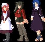 Hisui, Rin y Ciel - ropa normal