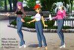 Millie, Nicole y Michelle en el parque