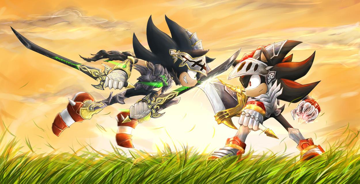 Dark Sonic Vs Lancelot By Splushmaster12 On DeviantArt