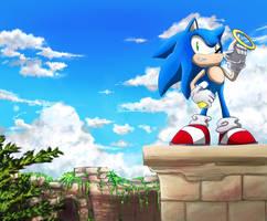 Sonic by splushmaster12