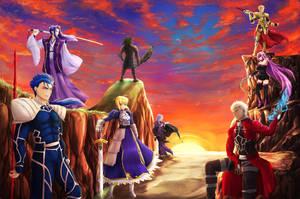 Fate Servants by splushmaster12