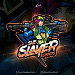 She Slayer Esports Team Logo Design