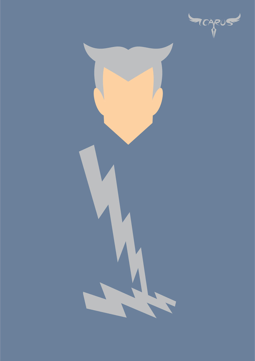 Minimalist quicksilver by elchavoman on deviantart - Quicksilver wallpaper marvel ...
