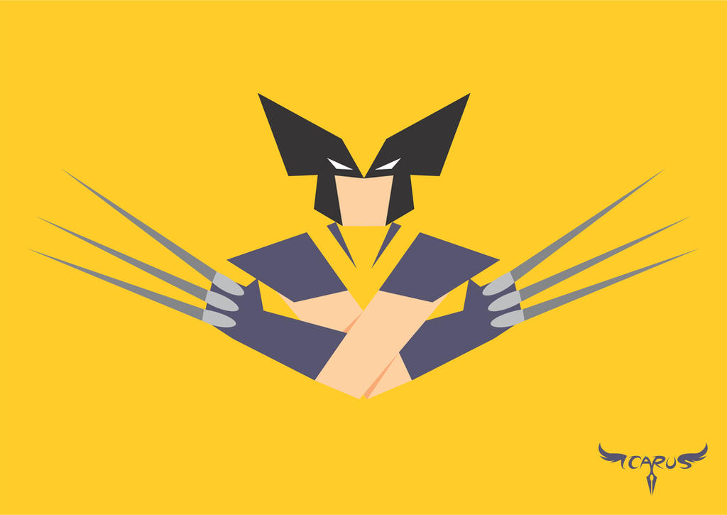 Image gallery minimalist wolverine for Minimal art hero