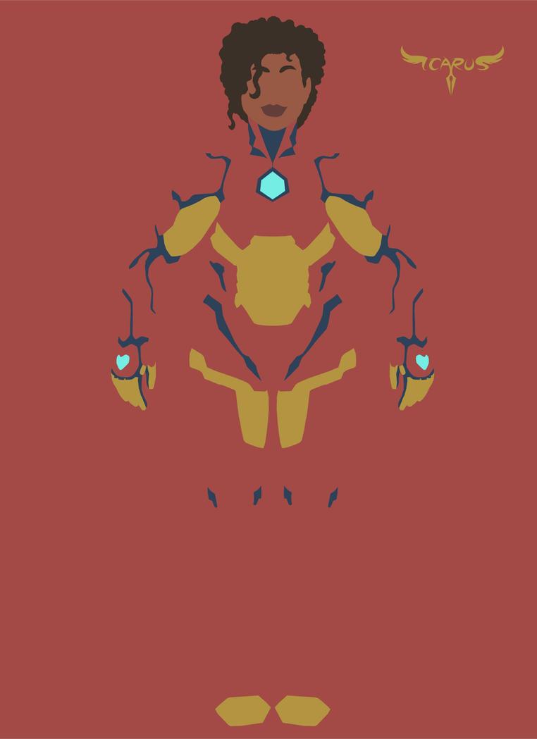 Minimalist Riri Williams - Iron Heart by elchavoman