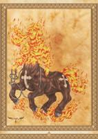 Mula Sem Cabeca - Bestiario do Folclore Nacional by elchavoman
