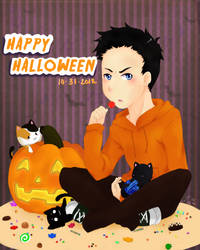 Happy Halloween: Damian Wayne by IceRosePhoenix