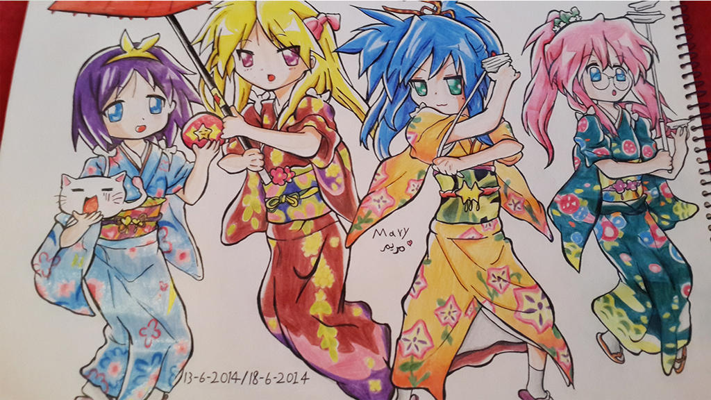 colored lucky star by Laviolenta