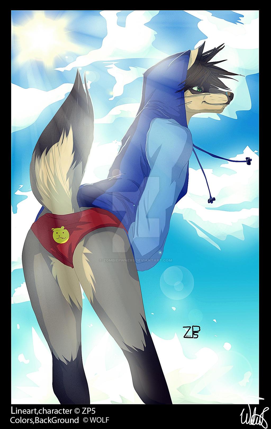 Hoody Wolf by ZombiePwner5