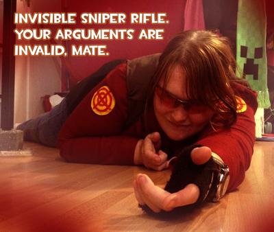 RED Sniper Cosplay deviantID by AustraliumSiren