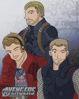 Avengers - Three Dudes Named Chris by LegendaryStar-Lady