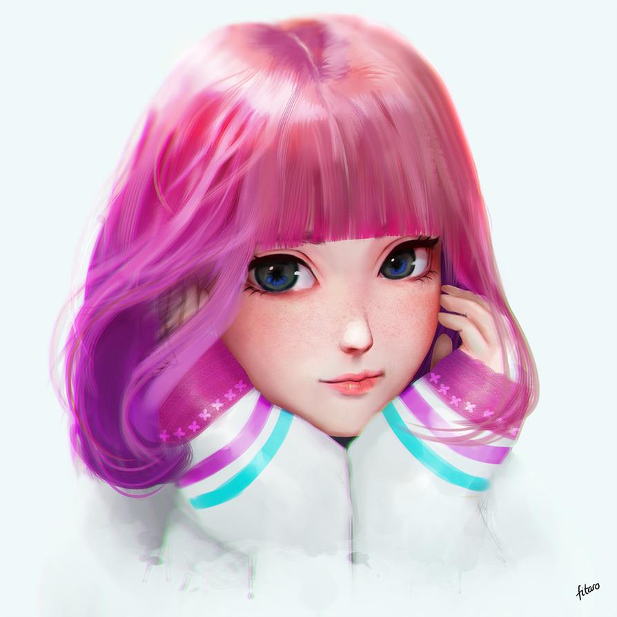 Cute pinky by FitaroArt