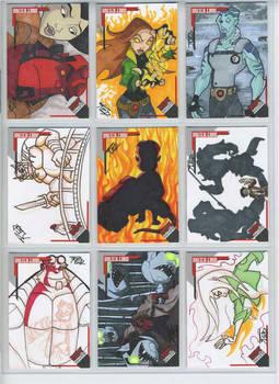 Hellboy animated sketch cards