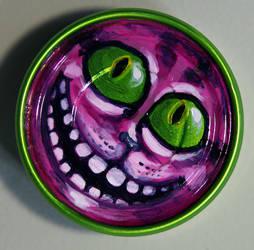 Cheshire Cat Tin by AmyKollarAnderson