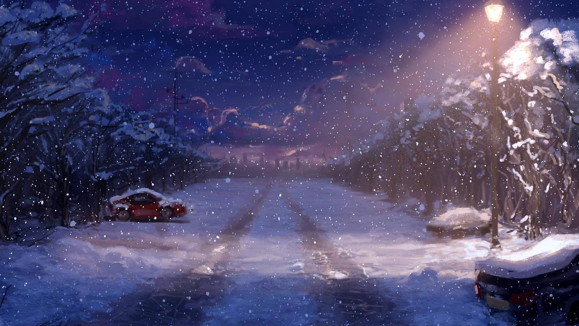 snow by AkikoMinami