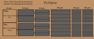 Pedigree of FRiv's Pass the Event Horizon -Filou-