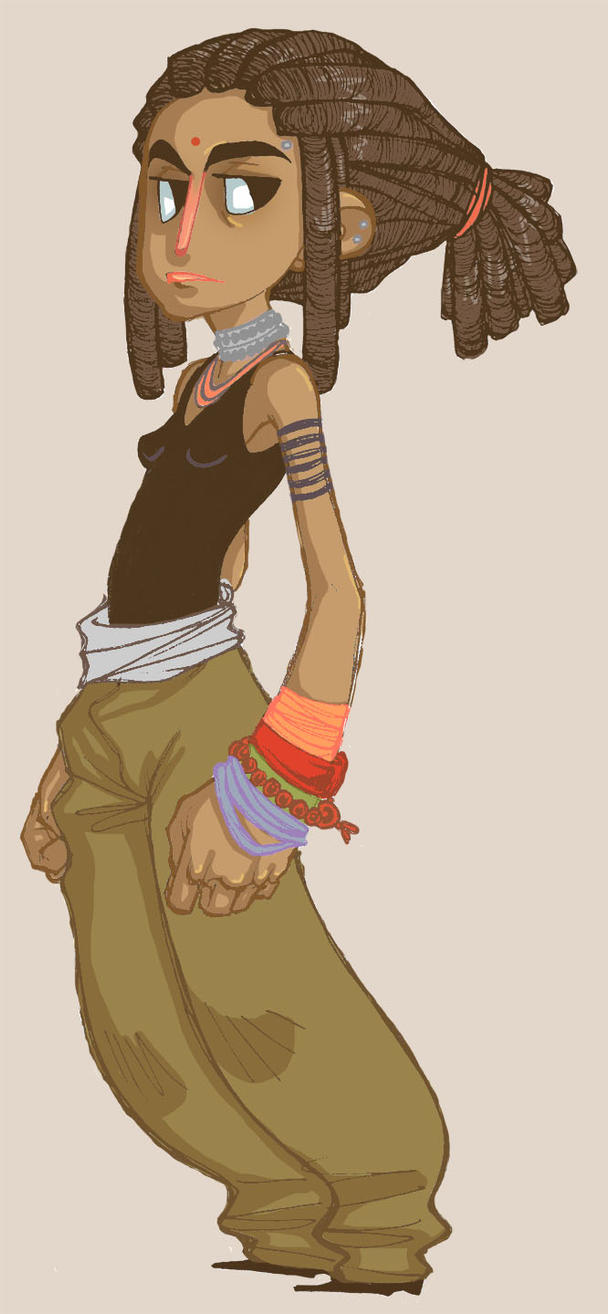 Cartoon Characters With Dreads : Girl with dreads by merrile on deviantart