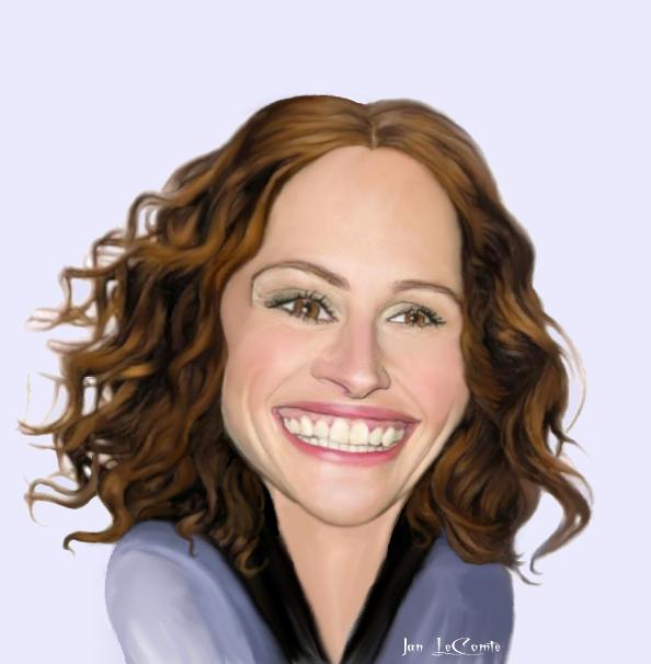 Julia Roberts Caricature by jantheempress