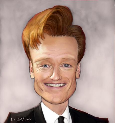 Conan O'brien Caricature by jantheempress