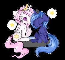 sleepy princesses by Lustrous-Dreams