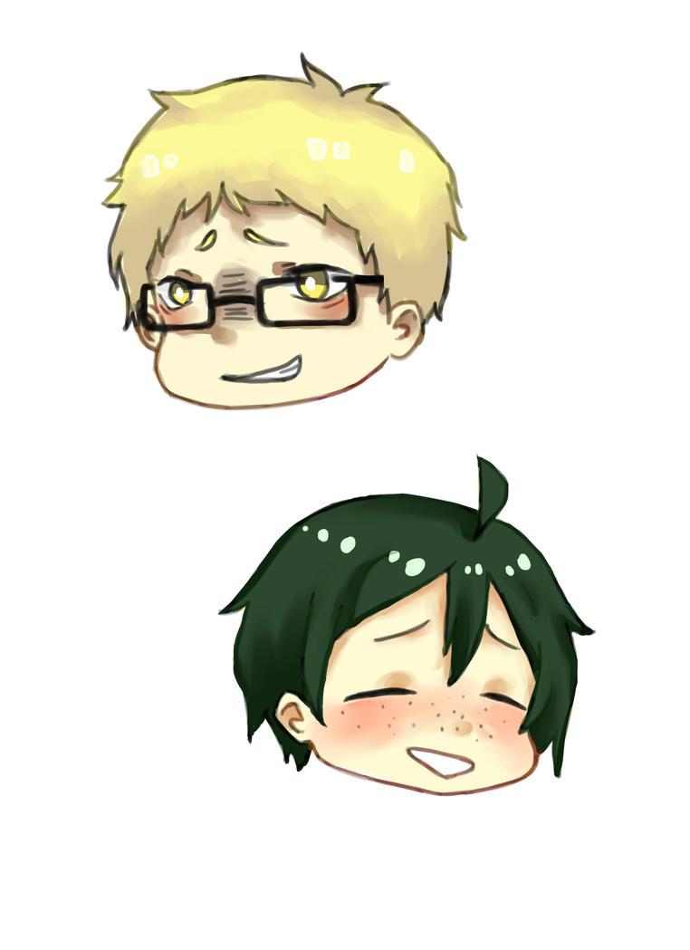 Tsukki and Yamaguchi by hitmanreborn27