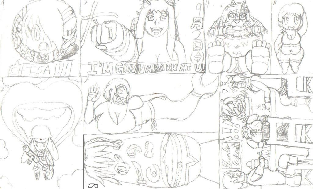 Sketch Dump September by KakuEpsilon