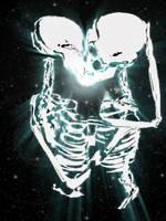 Skeletons kissing