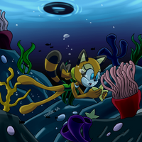 Comm: A raccoon on the reef by DarkNeon-64