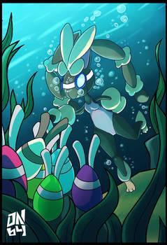 Commission: MegaLopunny's easter dive