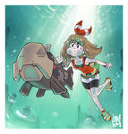 Commission: Pokemon Saphire and Water