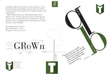 DVD cover, Bodoni