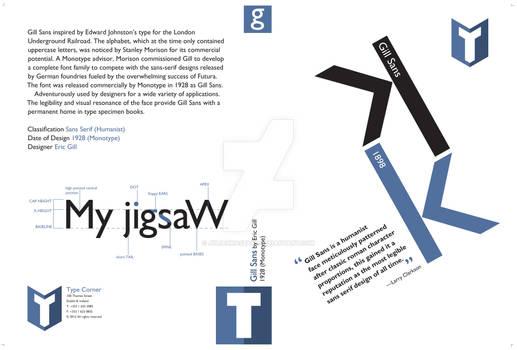 DVD cover, Gill Sans