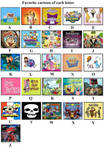 my favorite cartoons from A to Z