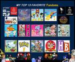 my top 13 favorite fandoms