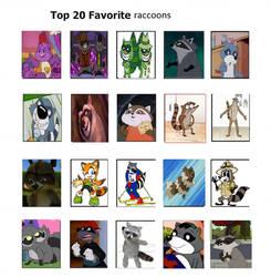 my top 20 favorite raccoons