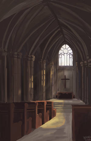 interior of nedah church by kyocs