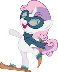 Sweetie Belle hits the slopes by seahawk270
