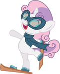 Sweetie Belle hits the slopes