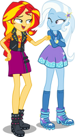 Sunset and Trixie by seahawk270