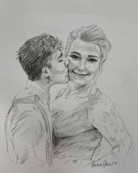 Couple Sketch by avaunt