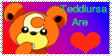 Teddiursa Are Love Stamp