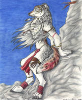 Wolf on a Cliff - Done by autumnfire