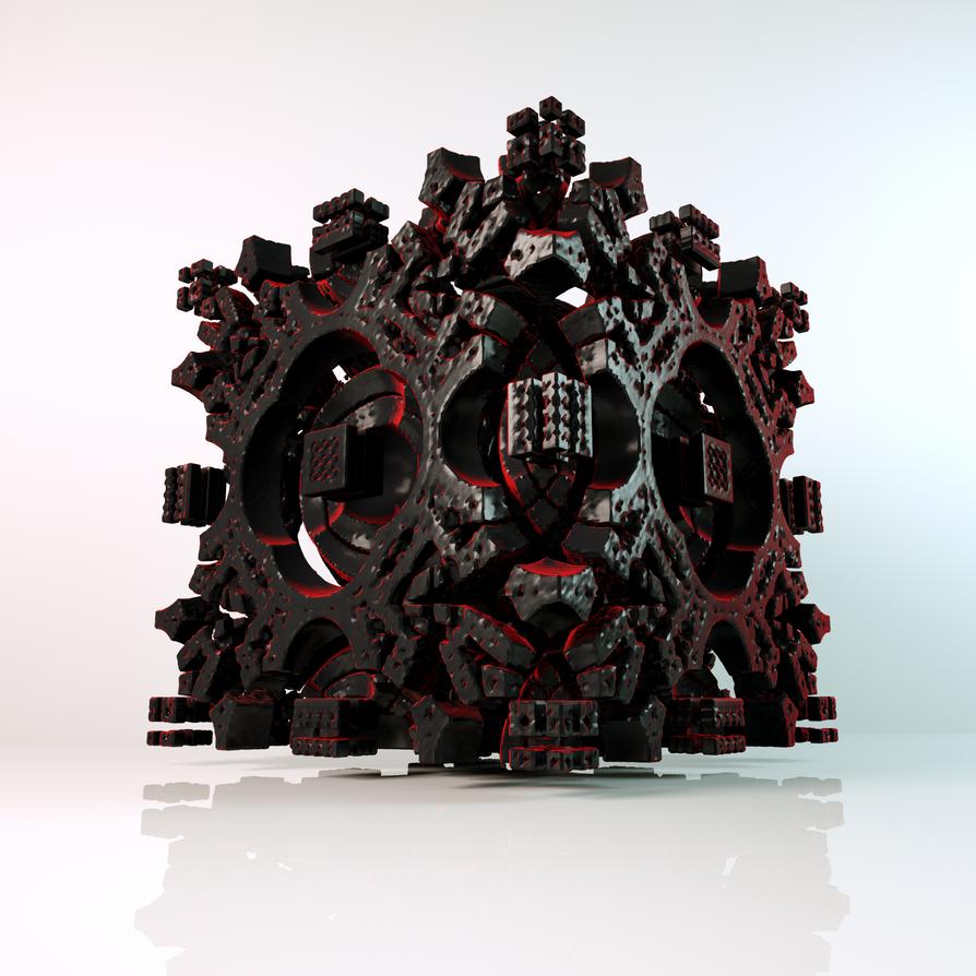 Fractal cube by Fractalin
