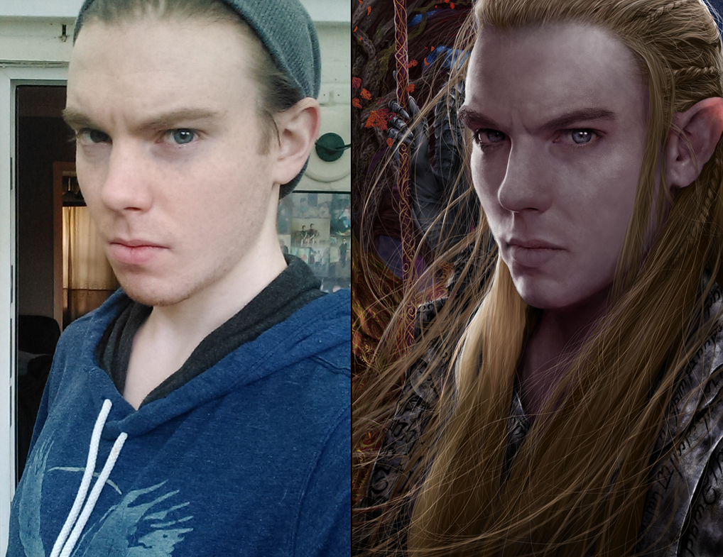 Male Elf Portrait Reference Process By Jay Carpenter