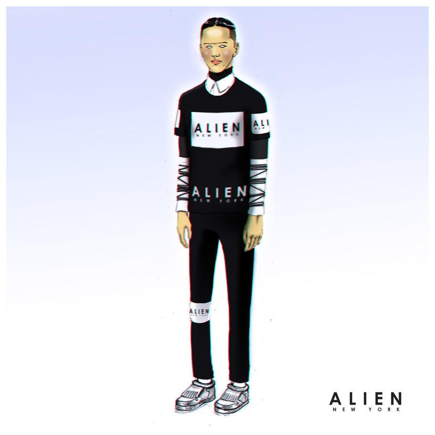 A L I E N  NYC CLOTHING Model by Harakiti