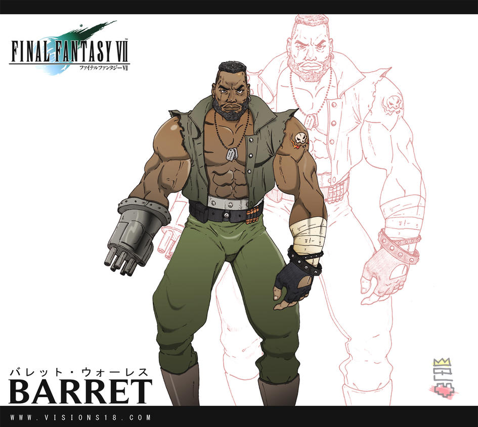 Barret Final Fantasy 7 by Harakiti