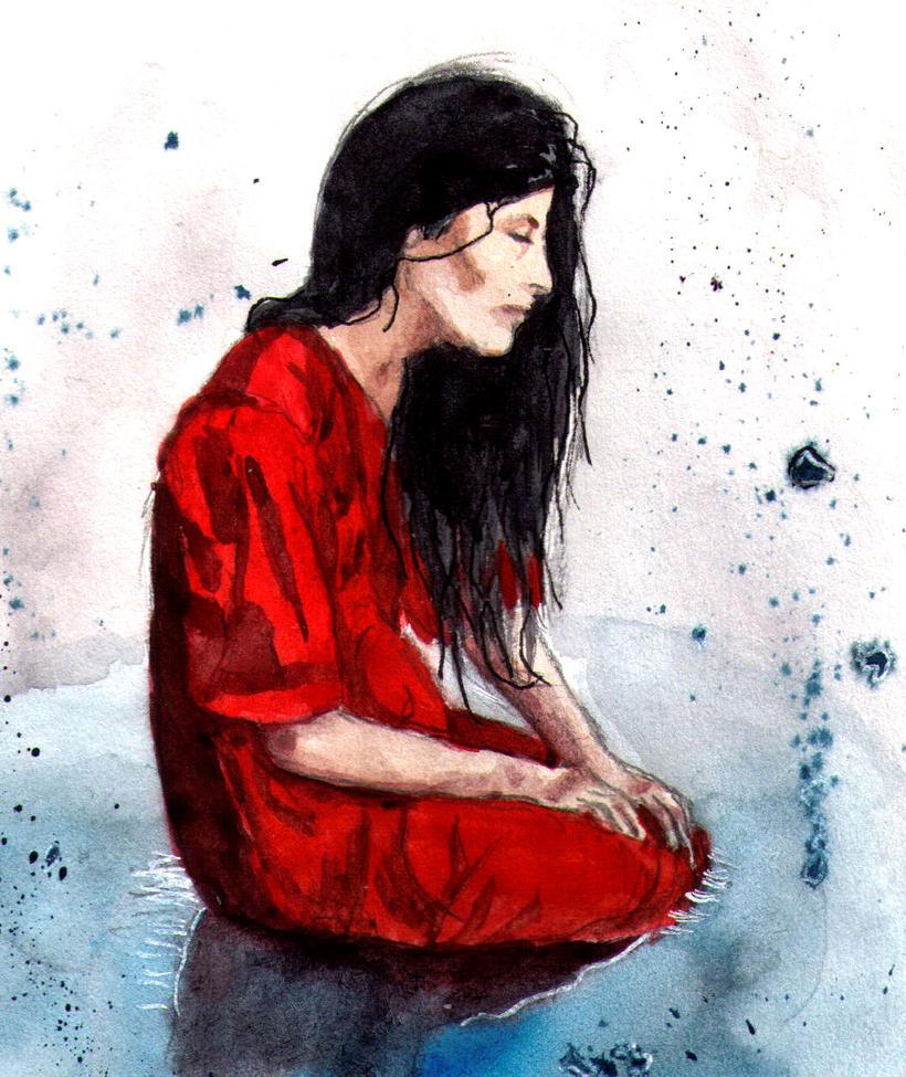 lady in red by AyvazyanMara