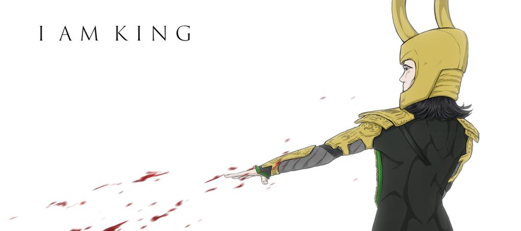 I AM KING. by Sketchevrywir