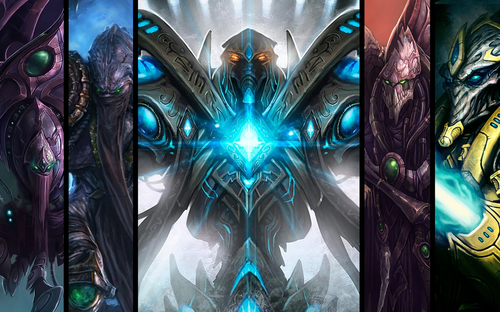 Inspired by the Protoss wallpaper I decided to try make one for