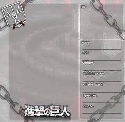 Attack on Titan Character Sheet